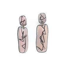 Short Cocteau Earrings by Christy Klug (Enameled Earrings)