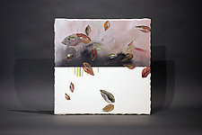 Autumn Leaf by James Aarons (Ceramic Wall Sculpture)