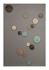 Pebbled River by James Aarons (Ceramic Wall Sculpture)