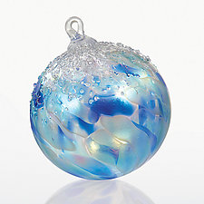 Baby, It's Cold Outside by Tom Stoenner (Art Glass Ornament)