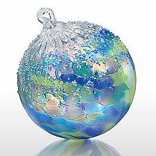 Earthly Orbit by Tom Stoenner (Art Glass Ornament)