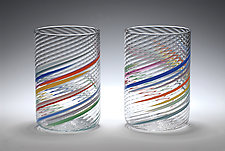 Big Glasses by Tom Stoenner (Art Glass Drinkware)