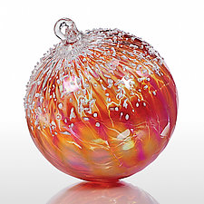 Fire & Ice by Tom Stoenner (Art Glass Ornament)