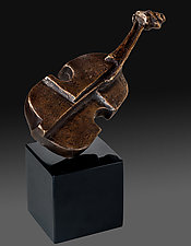 Violin by Dina Angel-Wing (Bronze Sculpture)