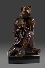 Mandolin Musician by Dina Angel-Wing (Bronze Sculpture)