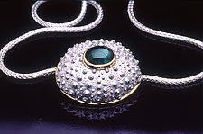Caribbean Dome by Hratch Babikian (Gold, Silver, & Stone Necklace)