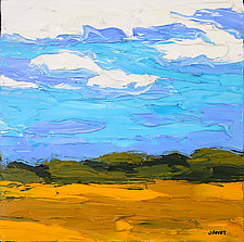 Drive-by Wheat Fields by Jeff  Ferst (Oil Painting)