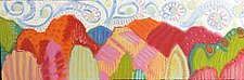 Colorful Mountains by Jeff  Ferst (Oil Painting)