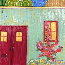 Red Door by Jeff  Ferst (Oil Painting)