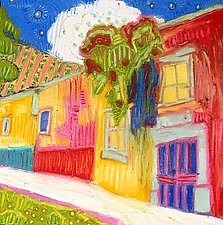San Miguel Streetscape by Jeff  Ferst (Oil & Pastel Painting)