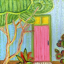 Pink Door by Jeff  Ferst (Oil Painting)