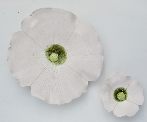 Unglazed Dogwood Pair