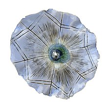 Blue Aster by Amy Meya (Ceramic Wall Sculpture)