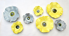 Violas by Amy Meya (Ceramic Wall Sculpture)