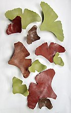 Autumn Ginkgos by Amy Meya (Ceramic Wall Sculpture)
