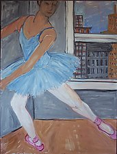 Ballet Class by Elisa Root (Oil Painting)