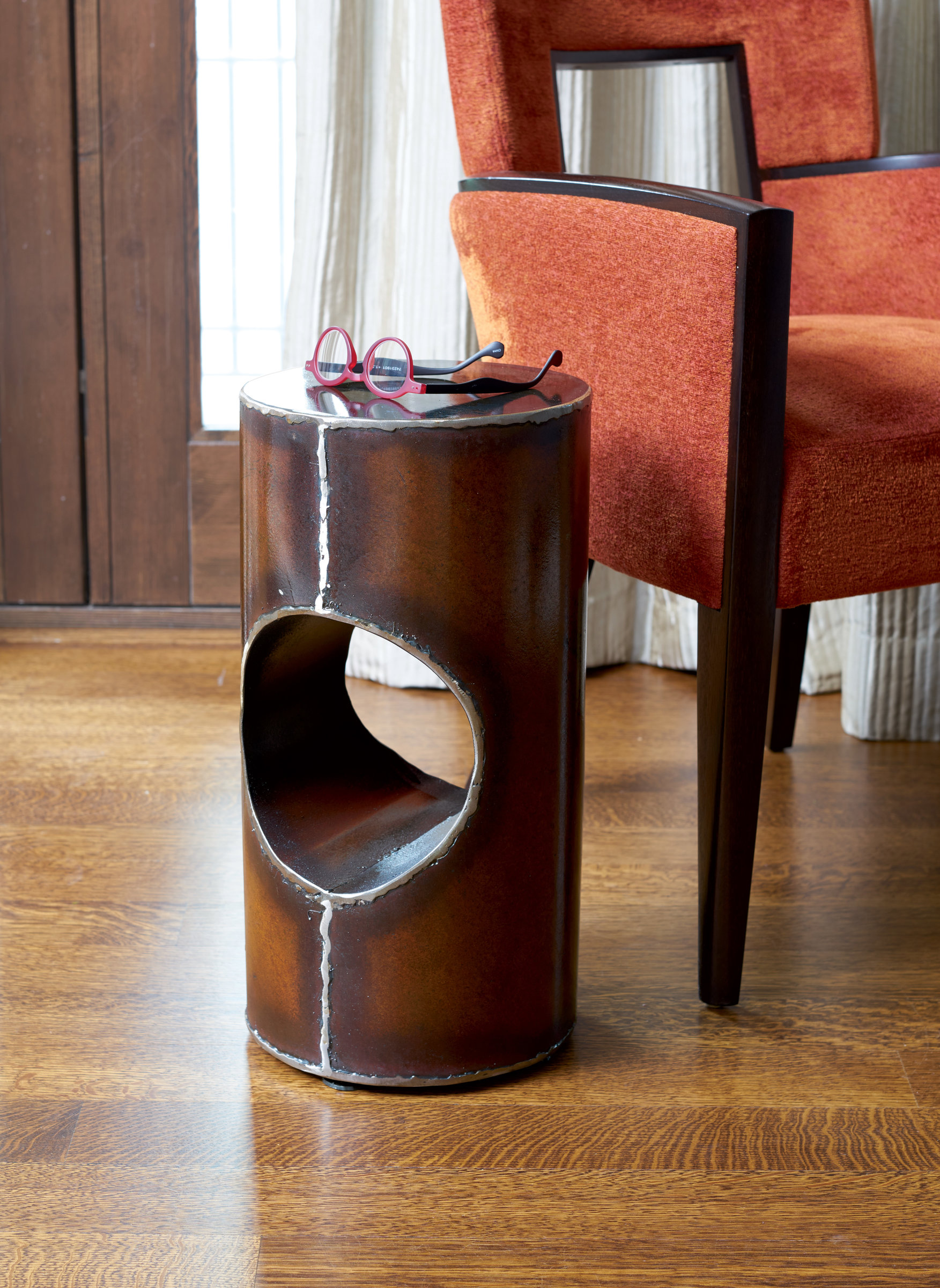 Cylinder Table By Ben Gatski And Kate Gatski (Metal Side