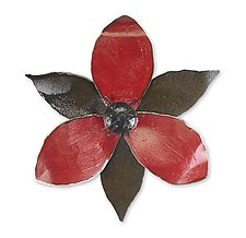 Red Trillium Wall Sculpture by Ben Gatski and Kate Gatski (Metal Wall Sculpture)