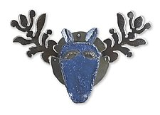 Tudor Moose by Ben Gatski and Kate Gatski (Metal Wall Sculpture)