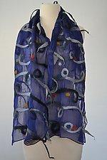 Marissa Scarf in Blue by Elizabeth Rubidge  (Silk & Wool Scarf)