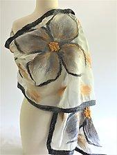 Alice Wrap by Elizabeth Rubidge  (Silk and Wool Felted Wrap)