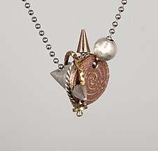 Mixed Metal Cone Number 2 by Suzanne Linquist (Jewelry Necklaces)
