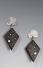 Night Sky Earrings by Suzanne Linquist (Silver & Ebony Earrings)