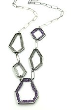 Geometric Geodes Necklace by Erica Stankwytch Bailey (Silver & Stone Necklace)