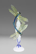 Dragonfly Perfume Bottle II by Loy Allen (Art Glass Perfume Bottle)