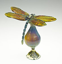 Blue Dragonfly Bottle by Loy Allen (Art Glass Perfume Bottle)