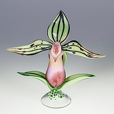 Lady Slipper Bottle by Loy Allen (Art Glass Perfume Bottle)