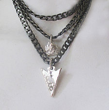 Stainless Steel and Sterling Necklace by Dennis Higgins (Silver & Steel Necklace)