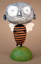 Zeek MoonBee Baby by Bruce Chapin (Wood Sculpture)