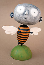 Zark MoonBee Baby by Bruce Chapin (Wood Sculpture)