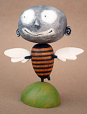 Zoot MoonBee Baby by Bruce Chapin (Wood Sculpture)