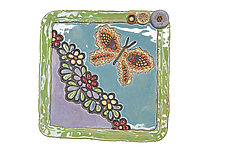 Butterfly Garden by Laurie Pollpeter Eskenazi (Ceramic Wall Sculpture)