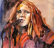 Singing the Blues by Terrece Beesley (Watercolor Painting)