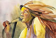 Rock Star by Terrece Beesley (Watercolor Painting)