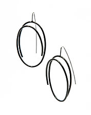 Medium Oval Earrings by Donna D'Aquino (Silver & Steel Earrings)