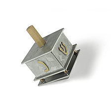 Small Full Pattern Dreidel by Joy Stember (Metal Dreidel)