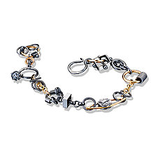 Black and Gold Treasure Bracelet by Suzanne Q Evon (Gold & Silver Bracelet)