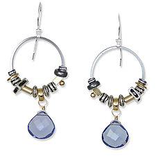 Iolite Elements Earrings by Suzanne Q Evon (Silver & Stone Earrings)
