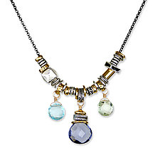Iolite Jambalita Necklace by Suzanne Q Evon (Silver & Stone Necklace)
