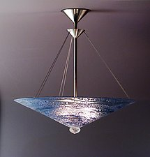 Blue Water Series Cone by George Scott (Art Glass Pendant Lamp)