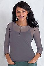 3/4 Sleeve Essential Mesh Layering Tee by Cynthia Ashby  (Mesh Top)