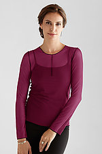 Long Sleeve Essential Mesh Layering Tee by Cynthia Ashby  (Mesh Top)