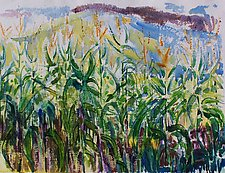 Linda's Corn by Alix Travis (Watercolor Painting)