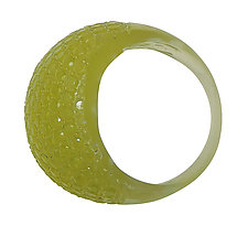 Chartreuse Faceted Resin Ring by Velina Glass (Resin Ring)