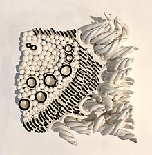 Sketch I by Regina Farrell (Ceramic Wall Sculpture)