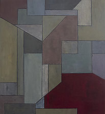 past present future three by Stephen Cimini (Oil Painting)